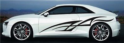 Auto Tribal Lines Car Vinyl Side 2 Graphics Decals Any Car