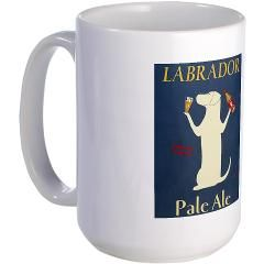 Labrador Pale Ale Large Mug - Great Father's Day gifts. Many breed and gift options.