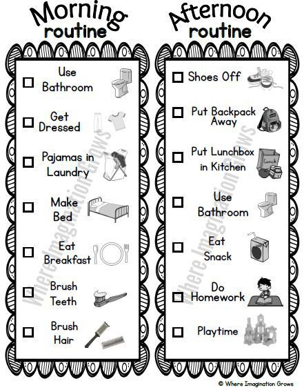 Before and After School Visual Routines for Kids