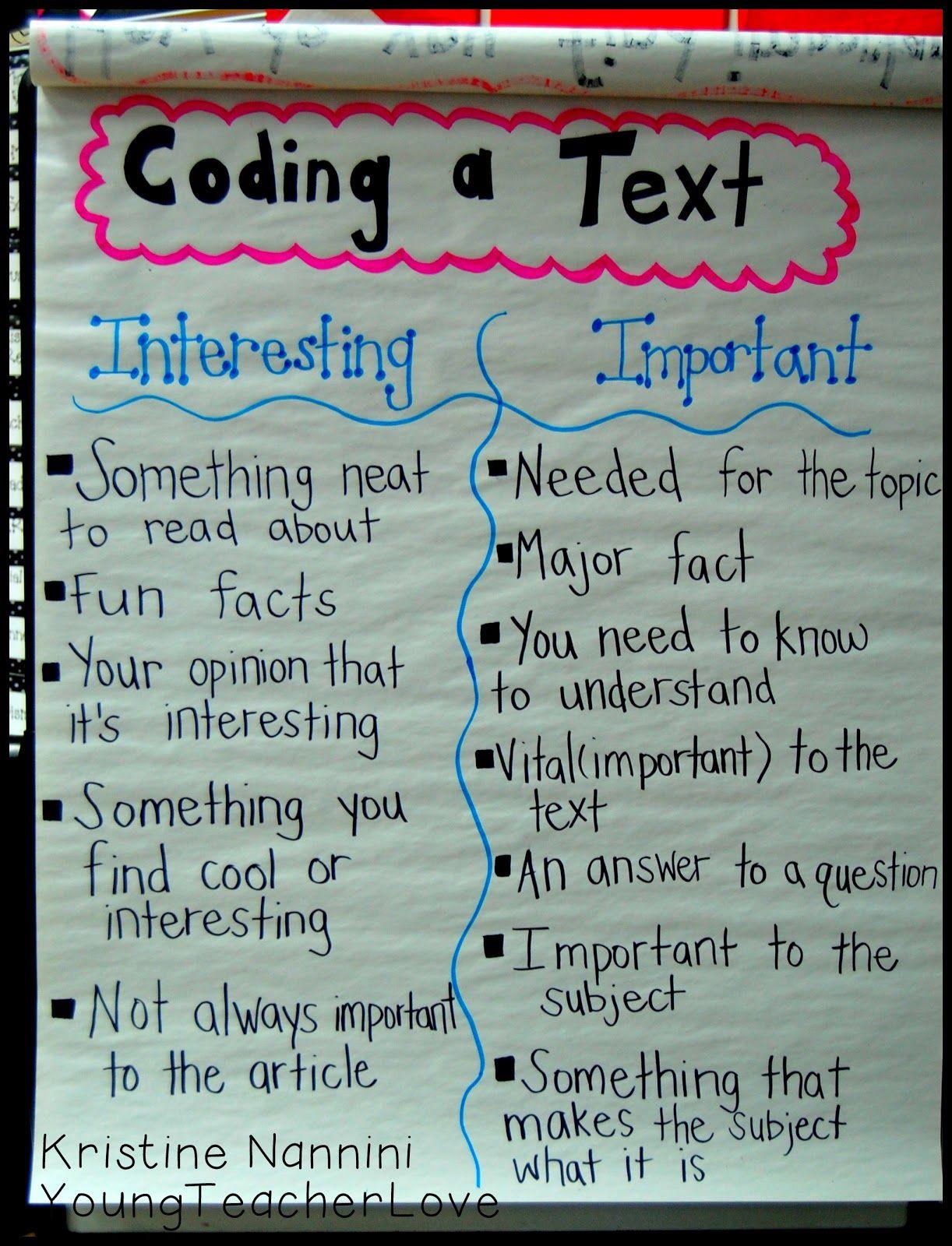 Reading And Summarizing Nonfiction Coding Text