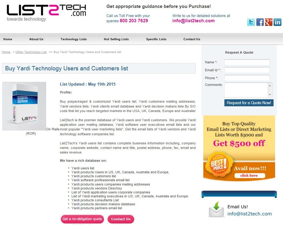 Pin by Tech Email on Customized Email and Mailing List of