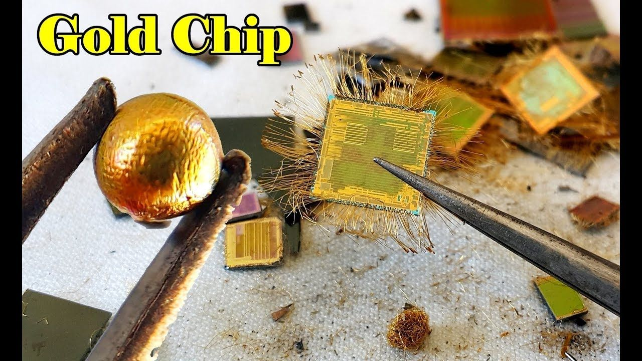 How To Recycle Gold From Ic Chips Video Make Chip Old Circuit Boards Upcycled Into Jewels Recycled Electronic Waste Recycling E
