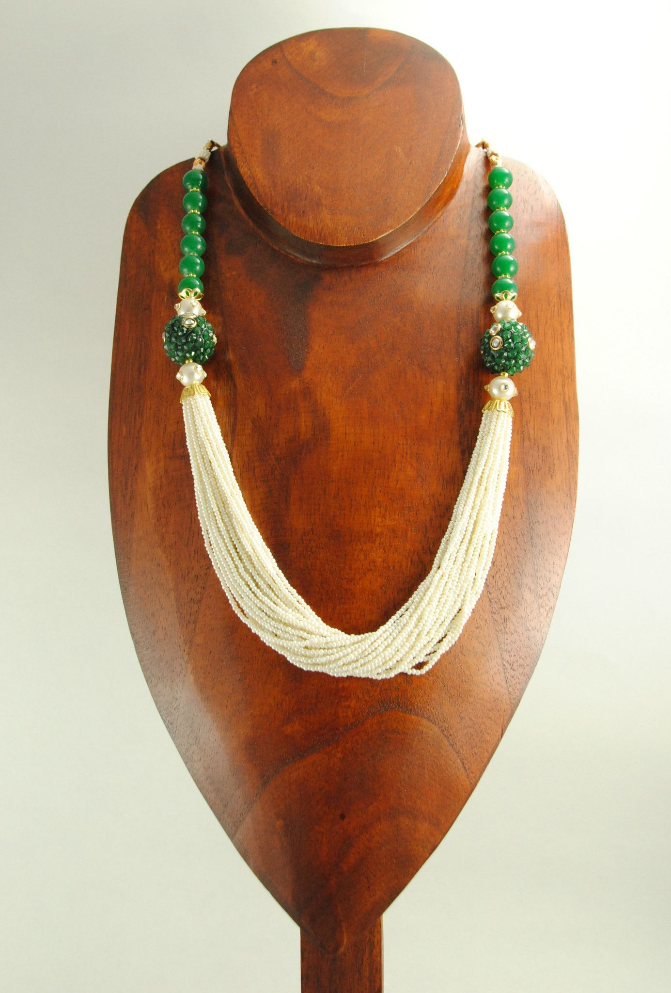Mehnaaz necklace set with sterling emerald beads jewelry diy
