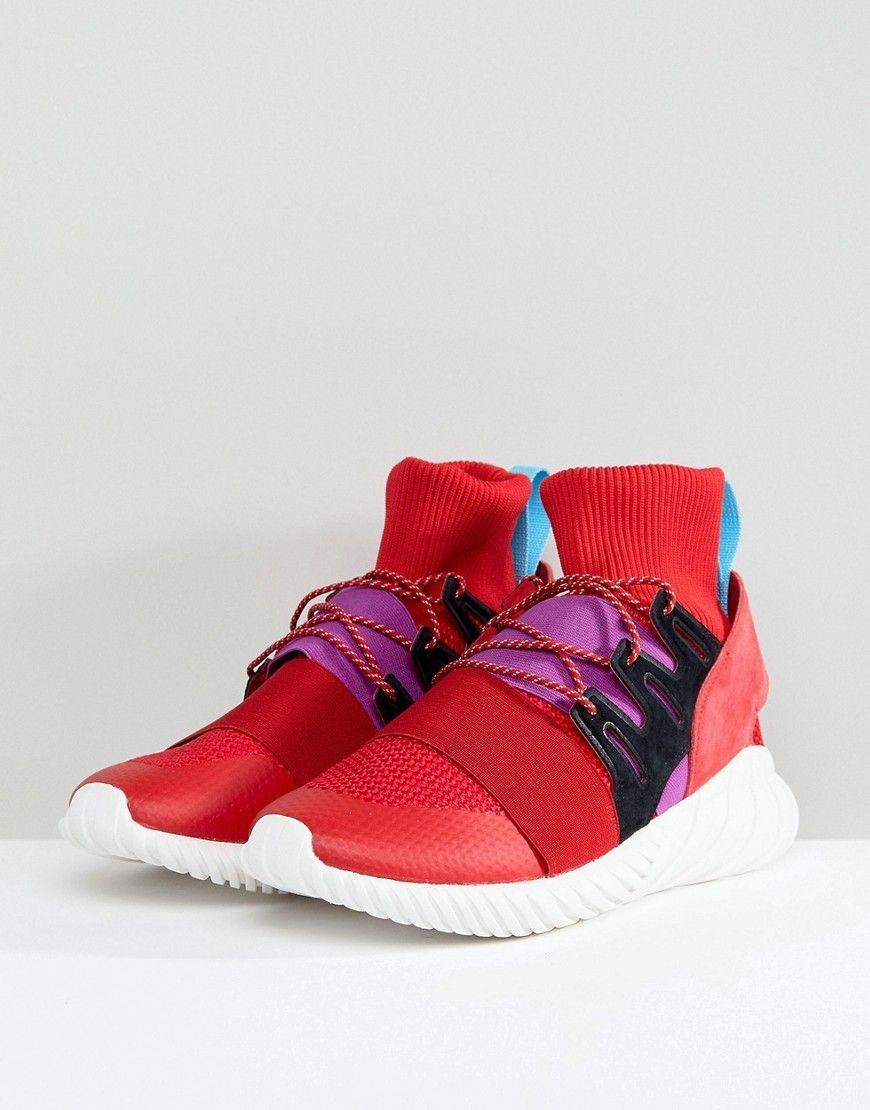 Adidas originali tubulare doom inverno scarpe in rosso by9397 rosso