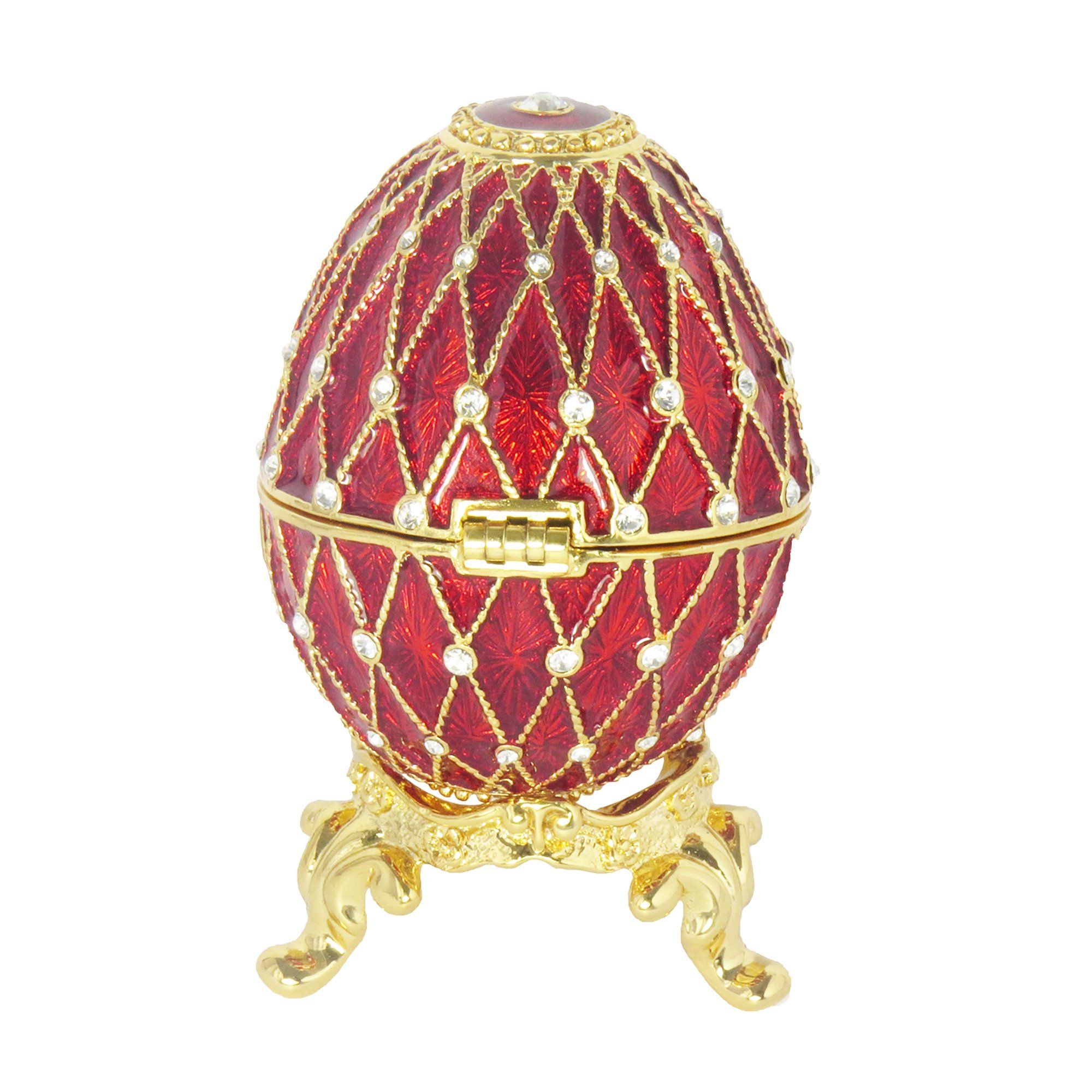 Burgundy Russian Faberge Style Egg made with Swarovski