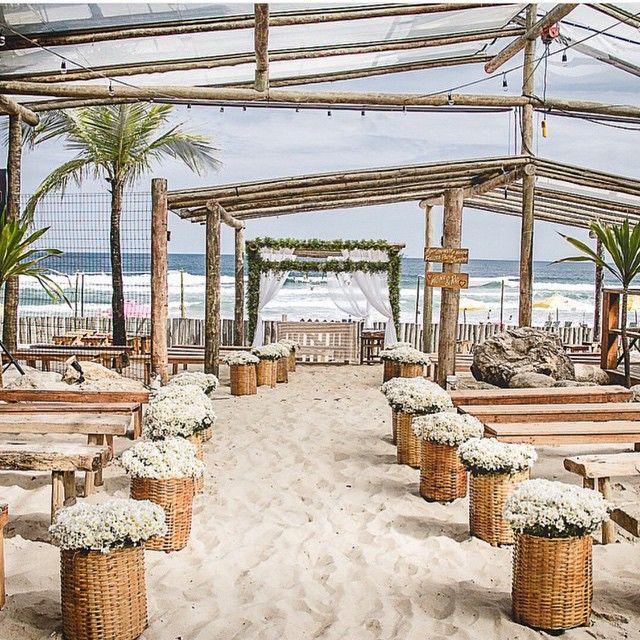 Beach Wedding Altar: Decoração Caminho Para O Altar