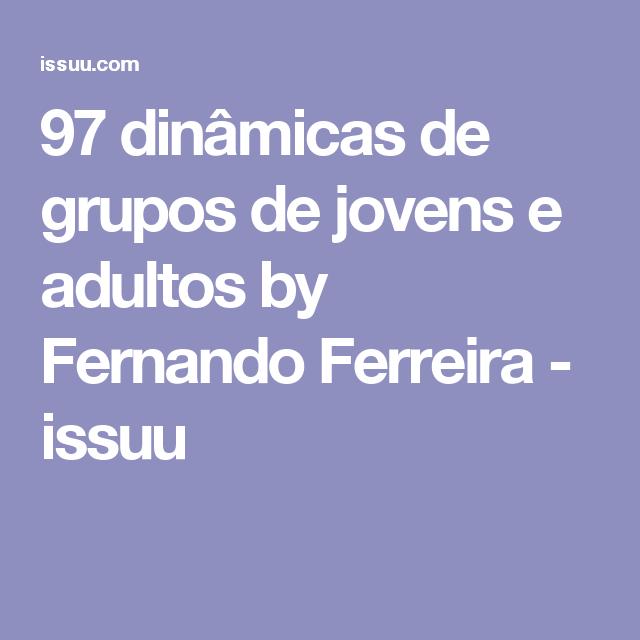 97 Dinâmicas De Grupos De Jovens E Adultos Grupos De