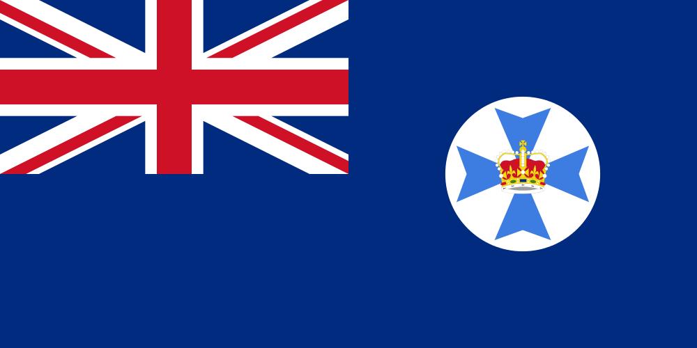 Flag Of Queensland Australia Map Flag Flag Country