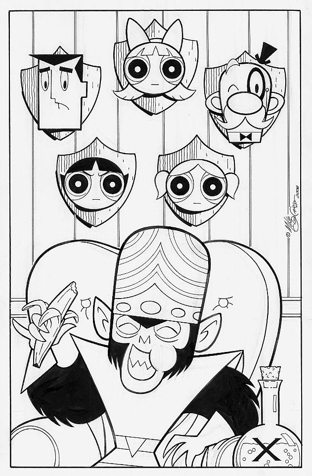 MOJO JOJO's Trophy Wall by Mike DeCarlo Comic Art