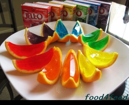 Need to do! Jello in fruit skins.