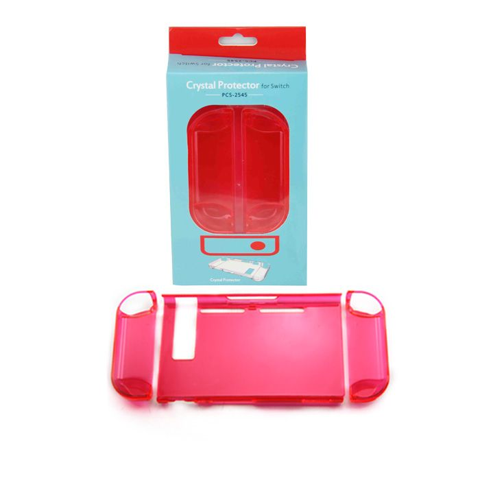 3in1 Transparent Crystal Protecting Cover Case For Nintendo Switch Gamepad Clear Red Nintendo Switch Accessories Nintendo Switch Case Nintendo