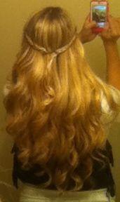 braided wavy hair!