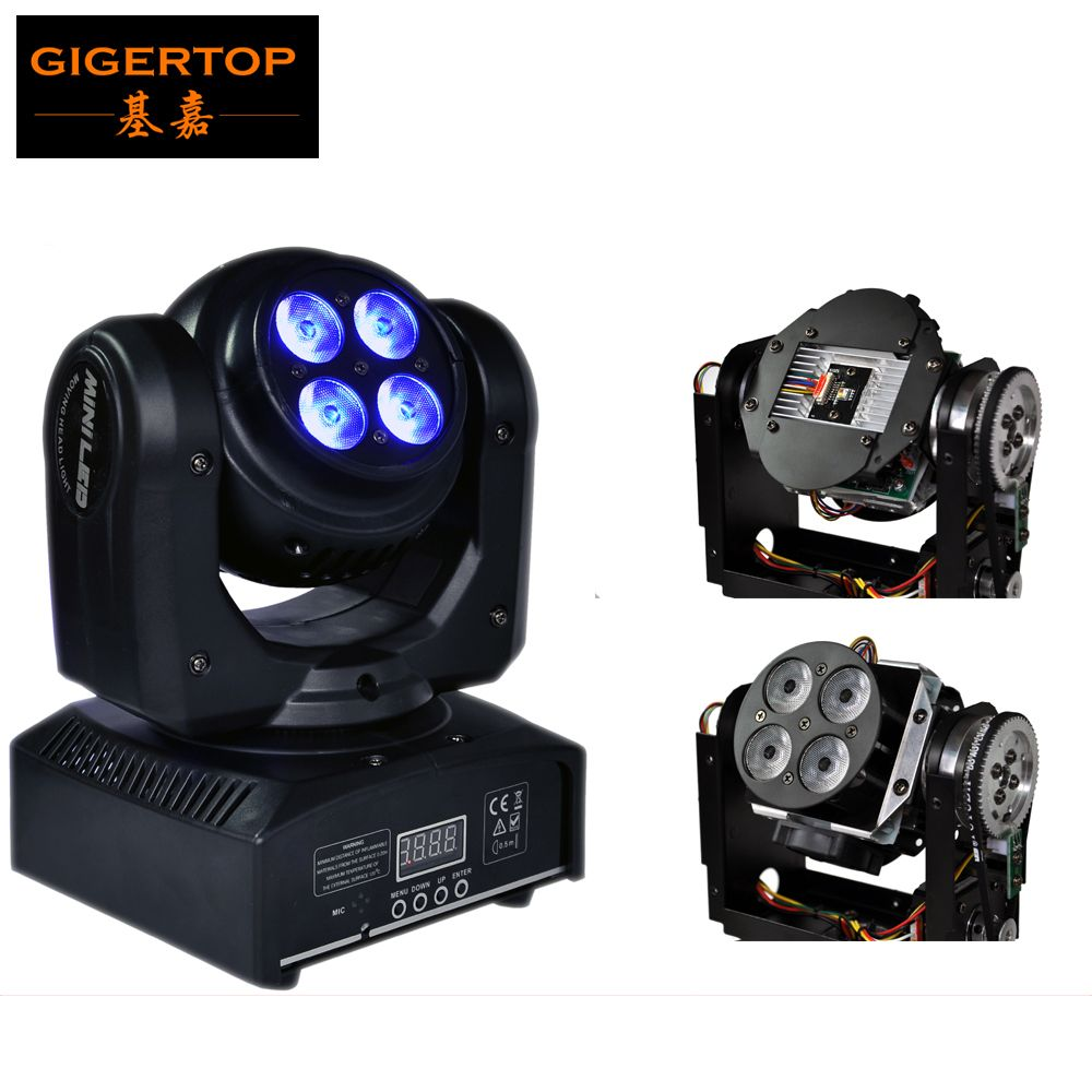 Sample New Double Face Mini Endless Rotating Rgbw Led Moving Head Beam 1 10w Cree 4 10w Tianxin Led Wash Stage Effect Lights Commercial Lighting Tianxin Cree