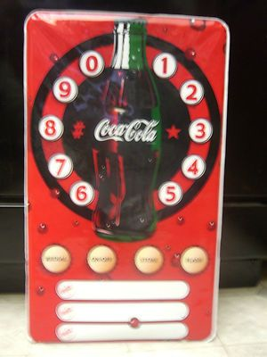 "Vintage Coca-Cola Poster Speaker Land Phone,Redial, Flash 11 1/2""x19 3/4"" WORKS!"