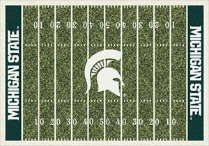 Michigan State Spartans Home Field Rug in Michigan State Spartans (End Zone Color: Green) from ACWG