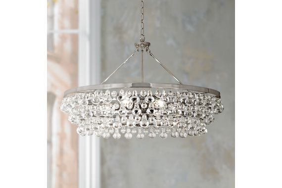 Robert Abbey Bling Large Nickel 35-Inch-W Chandelier - #EUV4913 - Euro Style Lighting
