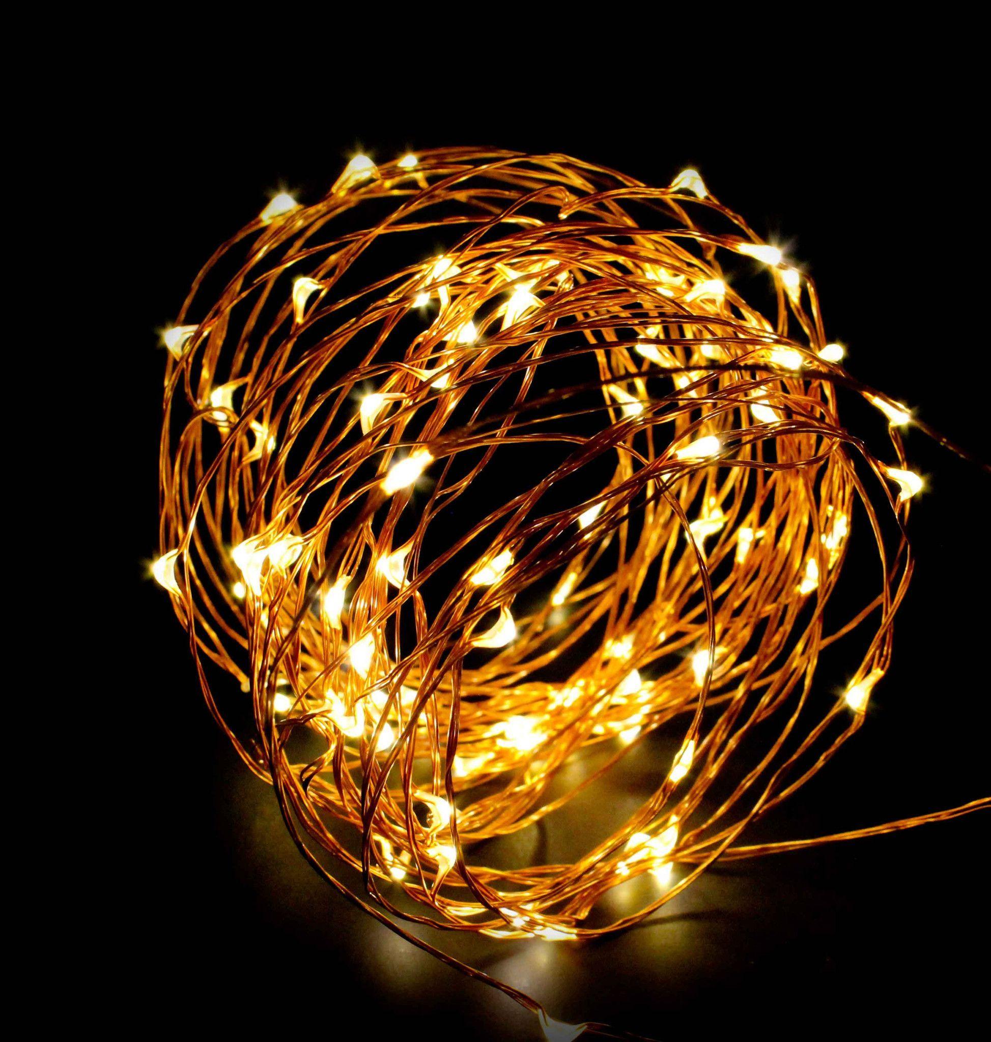ABN Indoor String Lights, Dimmable LED String Lights Decor