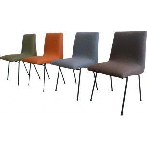 Set of 4 Meuble TV chairs, Pierre PAULIN - 1950s   • Pierre Paulin ...