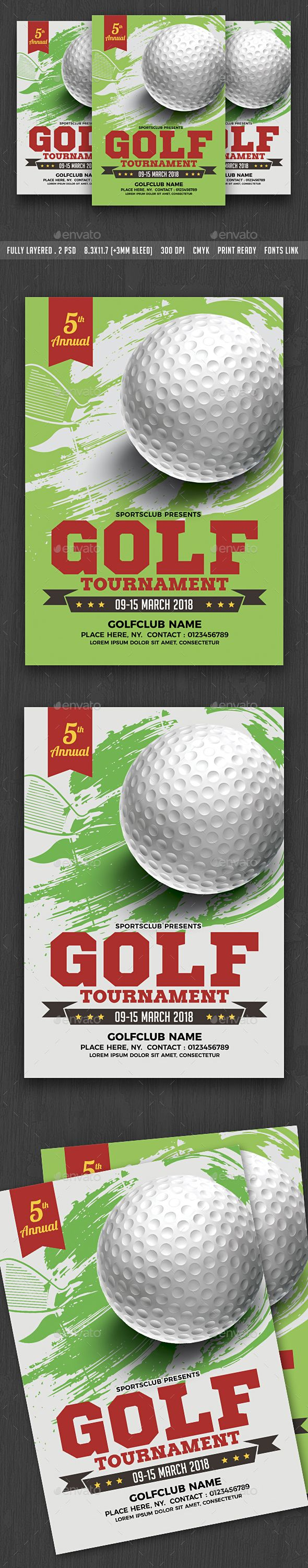 Golf Tournament Flyer Template Pinterest Flyer Template