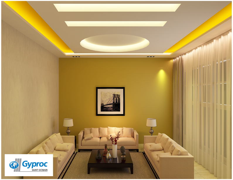 Attractive Gyproc Can Completely Change Your Living Room U0026 Give It A Refined And  Artistic Look!