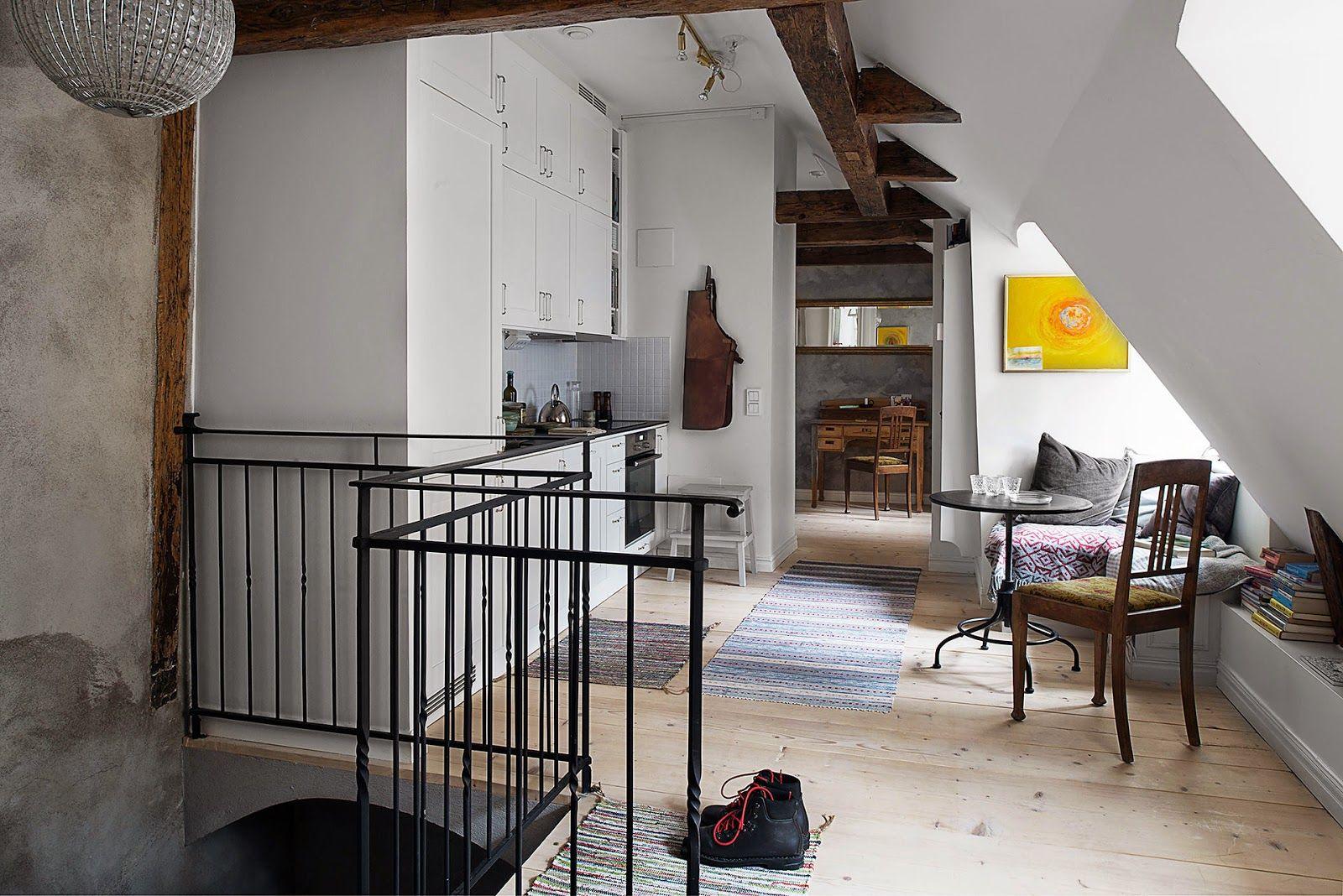 Un affascinante appartamento nella vecchia stoccolma kitchen