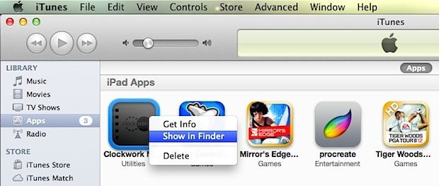 How to Show iPhone or iPad Apps in Mac OS X Finder