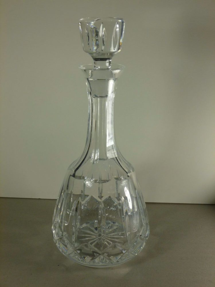 Vintage Atlantis Crystal Decanter And Stopper Gina Pattern Crystal Decanter Crystals Vintage