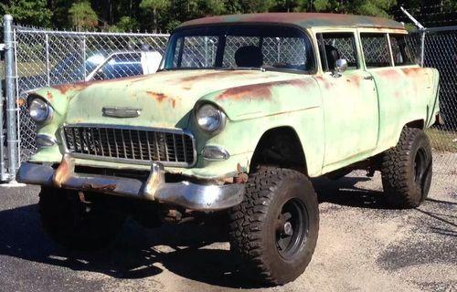 1955 Chevy Wagon Custom 4x4 Maintenance Restoration Of Old Vintage