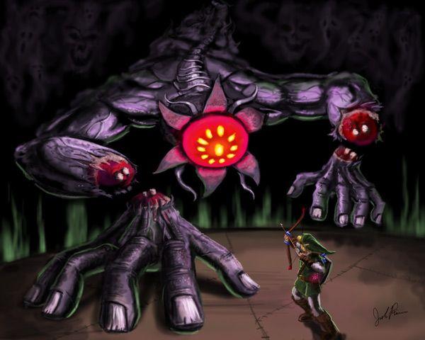 Link Vs. Bongo Bongo by Josh Rivers | Legend of zelda, Zelda ...