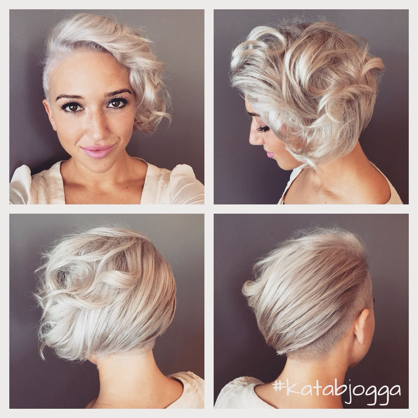Silver Short Hair With Undercut And Curls Amazing Undercut Hairstyles Short Hair Undercut Short Hair Styles