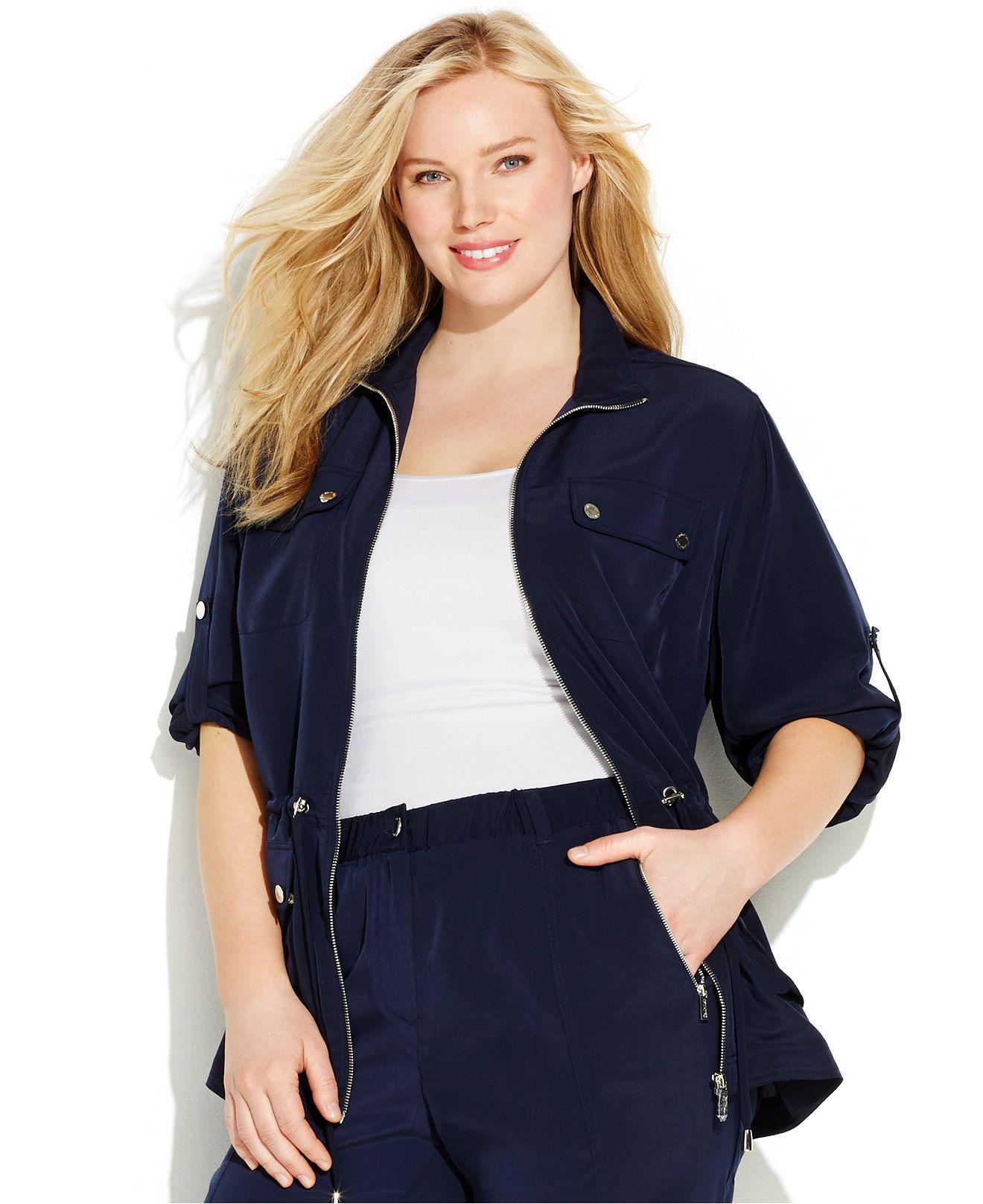 Calvin Klein Plus Size Anorak Jacket - Jackets & Blazers - Plus Sizes - Macy's