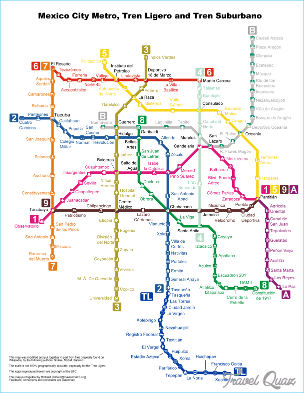 Subway Map Mexico City