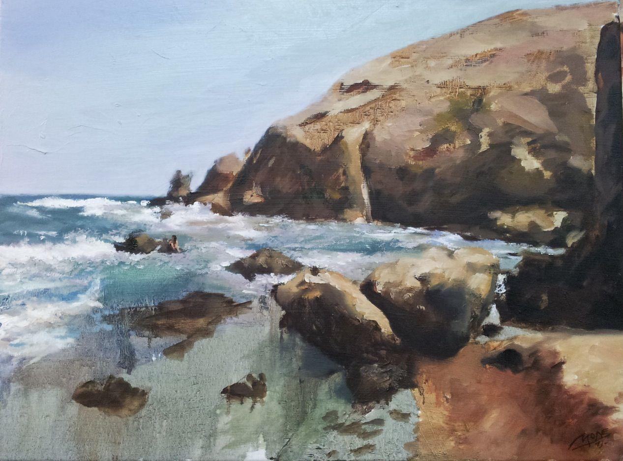 Marina. En una cala escondida del Cabo de Gata, donde al agua le gusta de ponértelo difícil para llegar a la orilla.