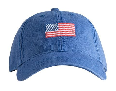 Blue American Flag Needlepoint Hat by Harding Lane