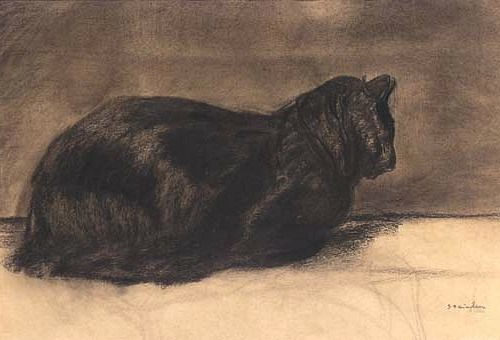 A Black Cat late - 19th c  Théophile Alexandre STEINLEN
