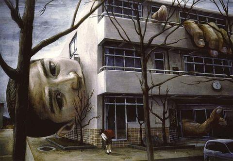 人間が物と一体化した絵で有名な石田徹也の作品が海外サイトに取り上げられる(画像あり)