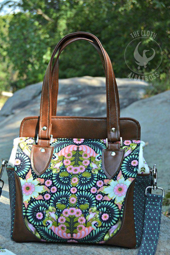 The Aster Handbag - PDF Sewing Pattern | Pinterest | Nähen