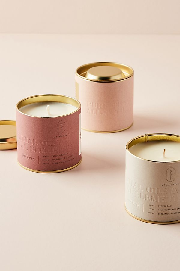 Elemental Tin Candle #candles