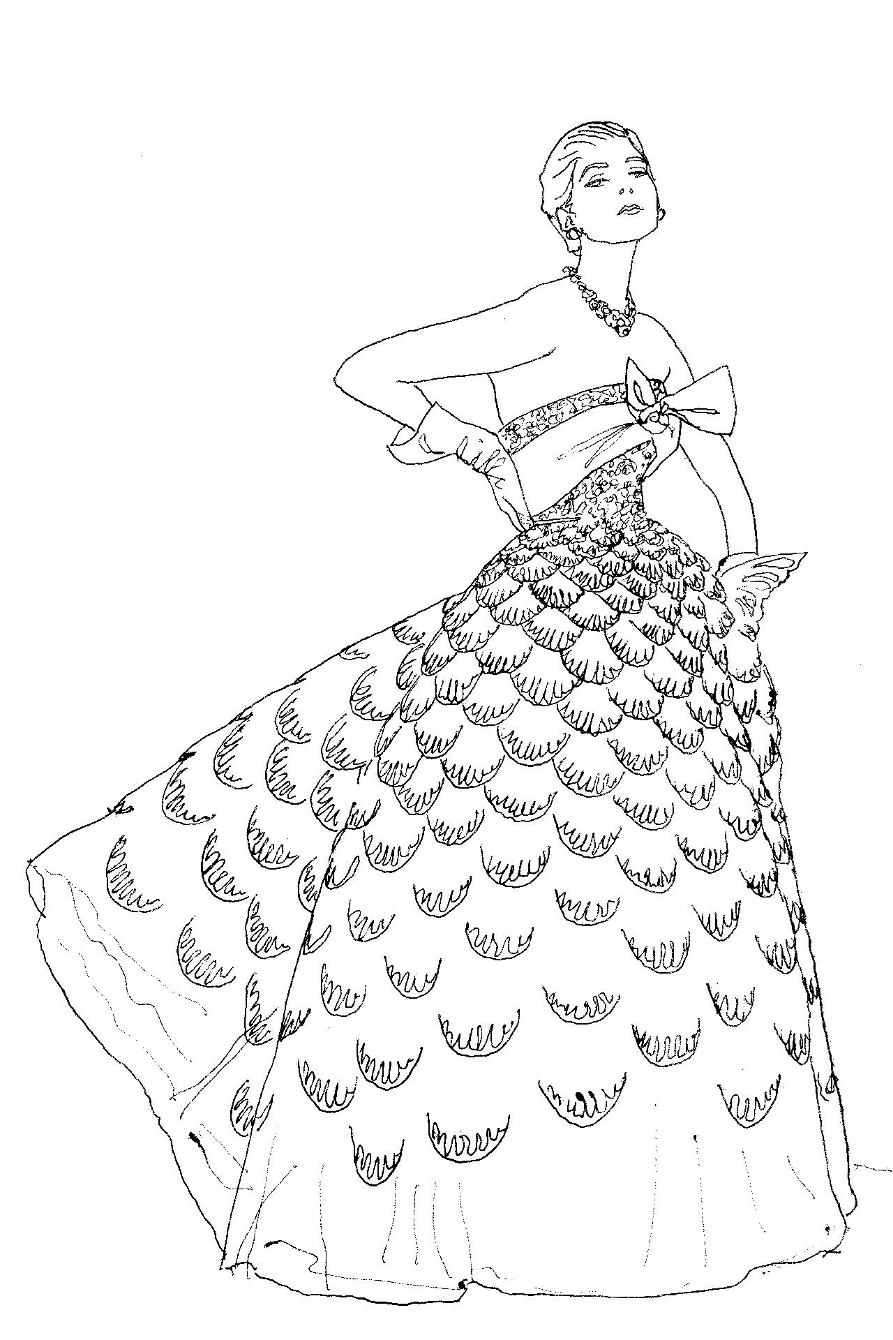 from Vogue coloring book