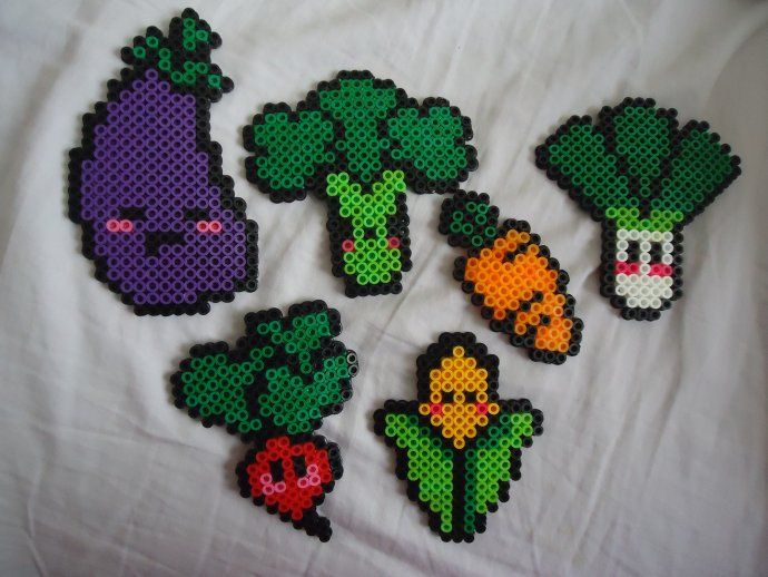 Zanahoria Hama Beads – Kawaii carrot hama perler beads by factory beads.