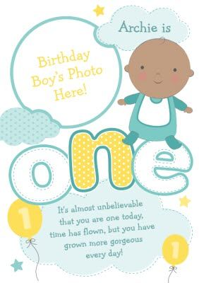 Baby Is One Personalised Photo Upload Birthday Cardonce You Ve Personalised Your Card Or Uploaded A Photo 1st Birthday Cards Happy 1st Birthdays Birthday Cards
