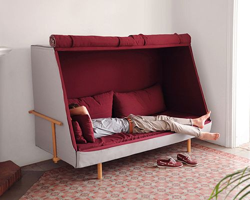 Goula Figuera Blends A Sofa Bed And Cabin Into Orwell Project Furniture Cabin Sofa Cabin Furniture