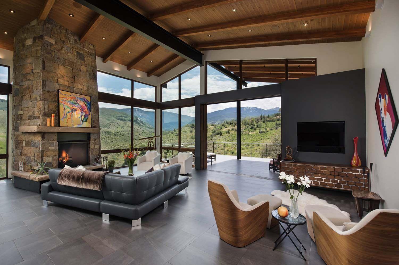 Elegant Mountain Contemporary Home In Colorado Radiates With