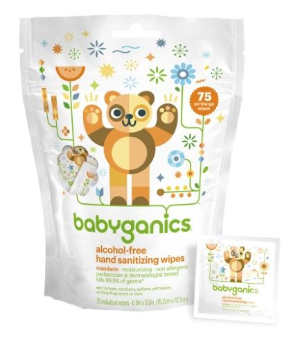 Babyganics Hand Sanitizer Wipes Mandarin Orange 75 Ct