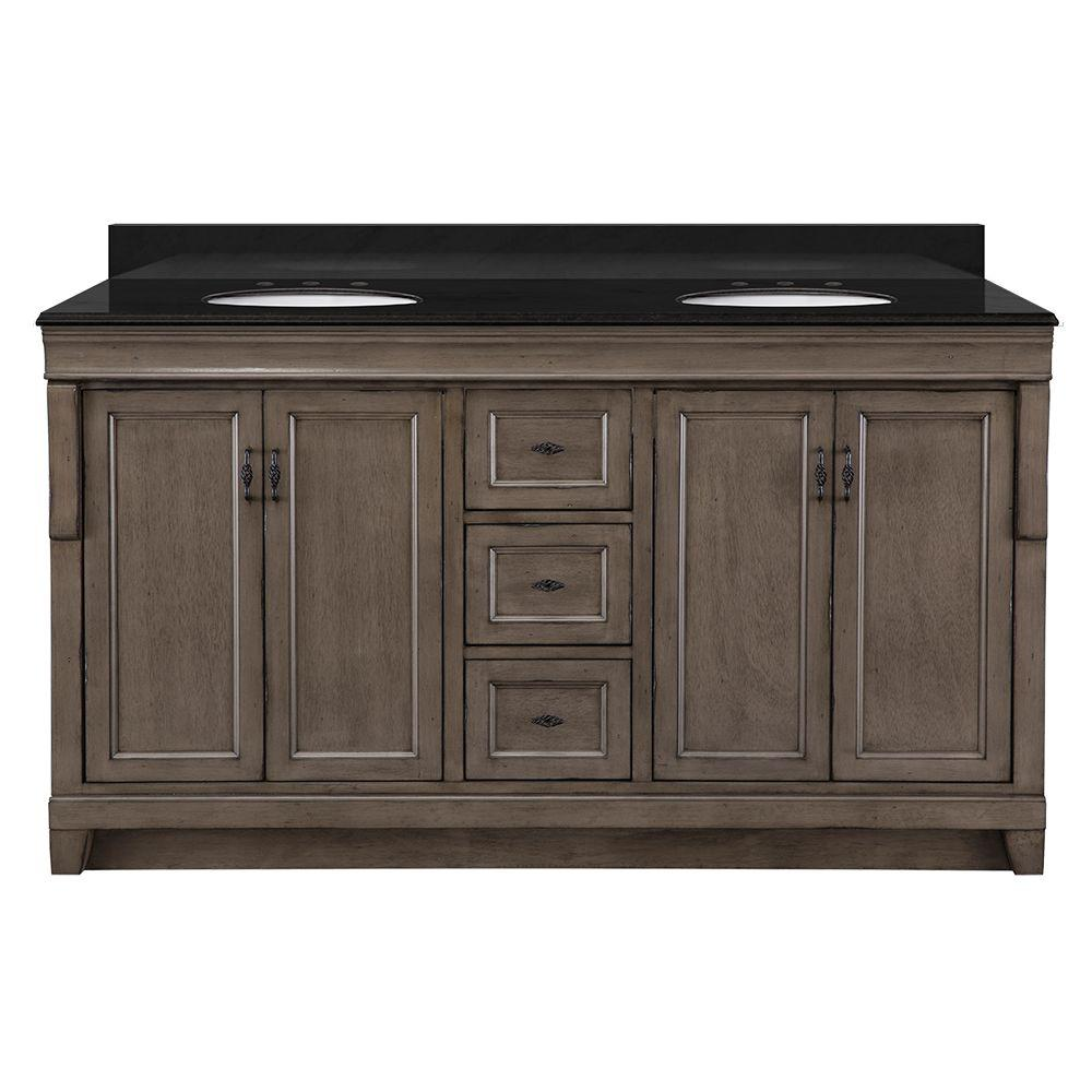 Home Decorators Collection Naples 61 In W X 22 In D Double Bath