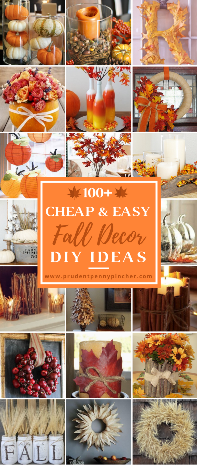 100 Cheap and Easy Fall Decor DIY Ideas #diyfalldecor