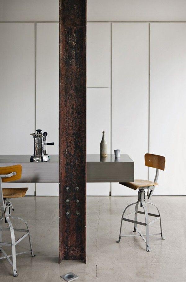 Stunning Industrial London Loft Columnas Interiores Vigas Vigas De Acero