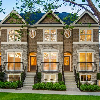 Brownstone Renovation With A Traditional Exterior Finish Townhouse Exterior Townhouse Designs Modern Farmhouse Exterior