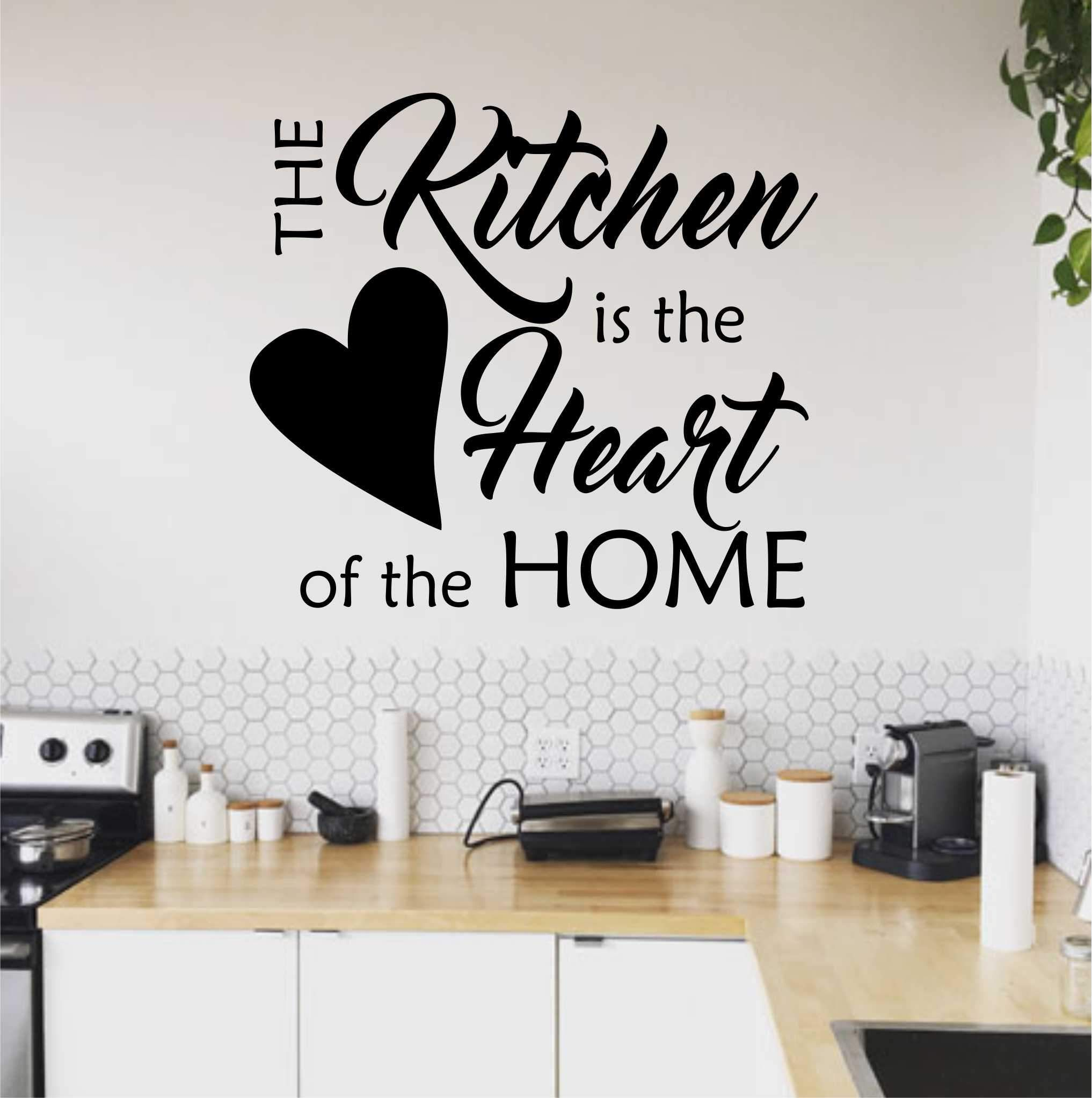 Kitchen Heart of Home Quote | Kitchen Decal | Vinyl Wall ...