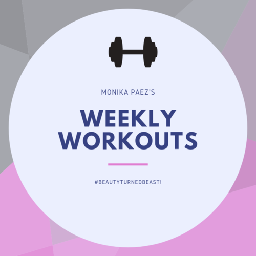 Weekly Workouts | Fitness | Workout plan | Fitness coach | Monika Paez Fitness | #workout #fitness
